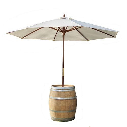 Tonneau parasol ouvert